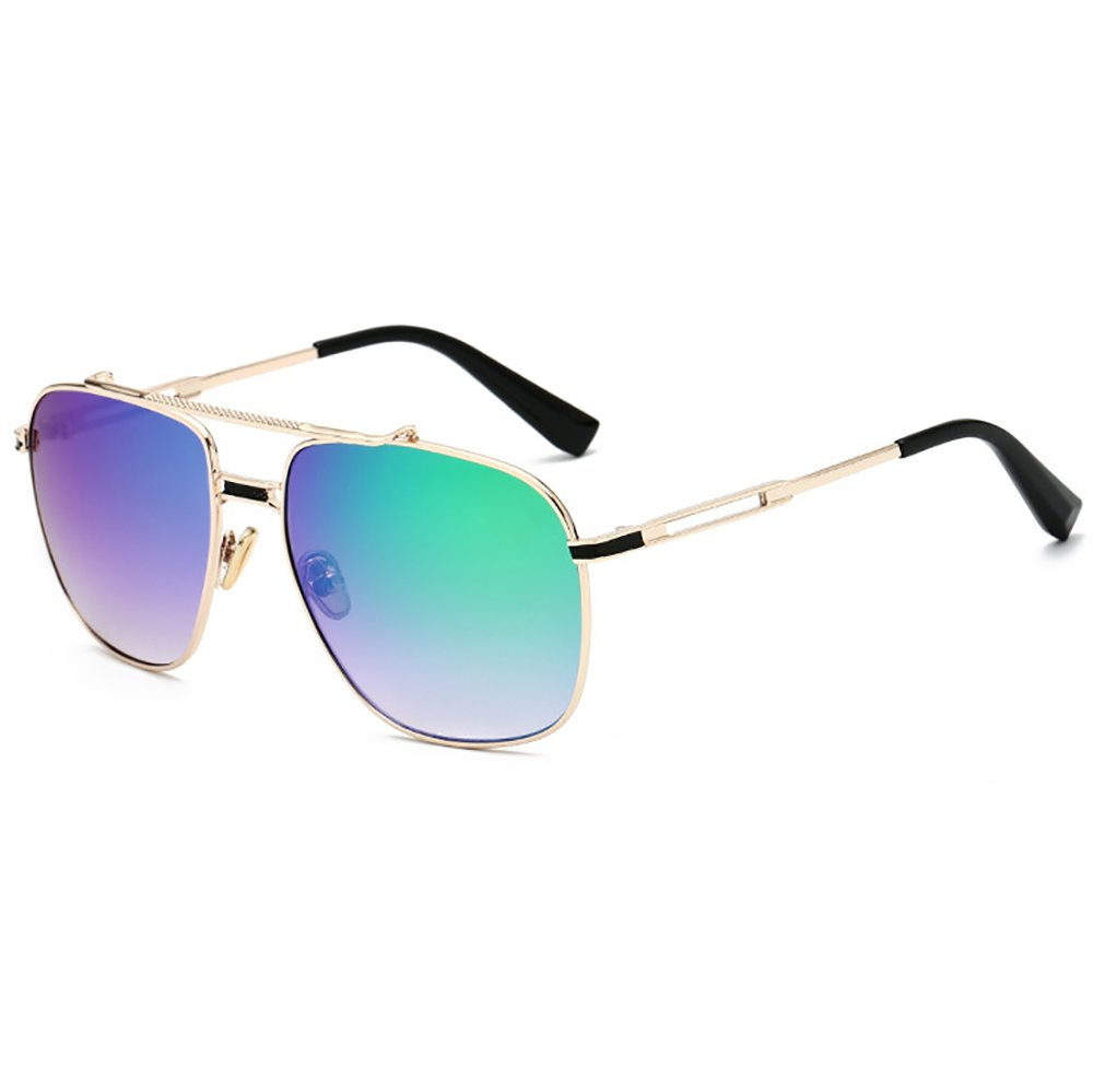Retro Sunglasses Aviator Men Square Sunglasses Metal Frame For Women Men Mirror Lens SHEEN KELLY A506-3