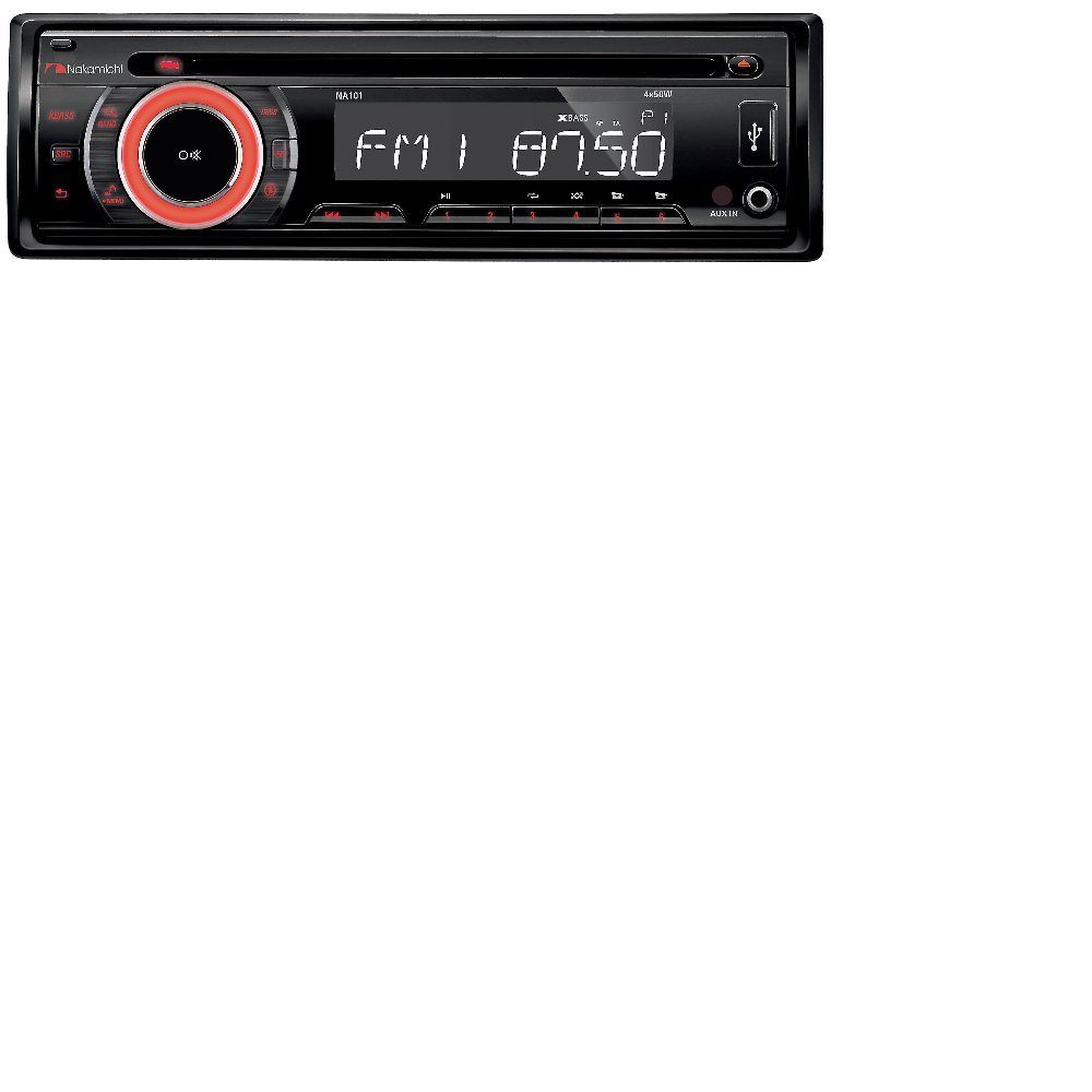 Nakamichi Na101 Car Stereo Radio Cd Usb Aux 50watts X 4 Wiring Harness Detachable Face Security Toyota Tacoma Double Din Installation Dash