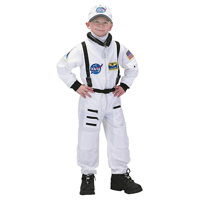 Jr. Astronaut Kids Costume White - Small