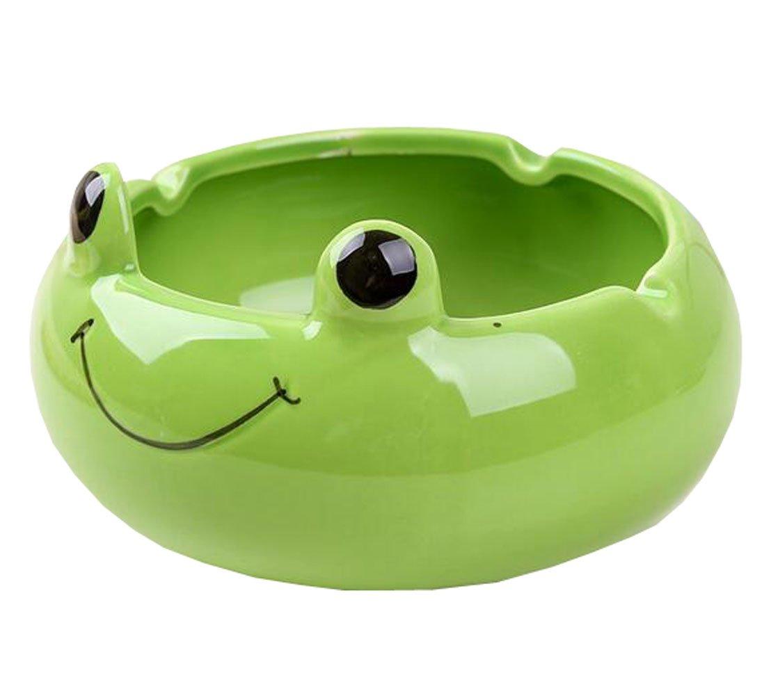 Suplove Cute Creative Ash Holder Animal Ceramic Ashtray Birthday Present (Green)