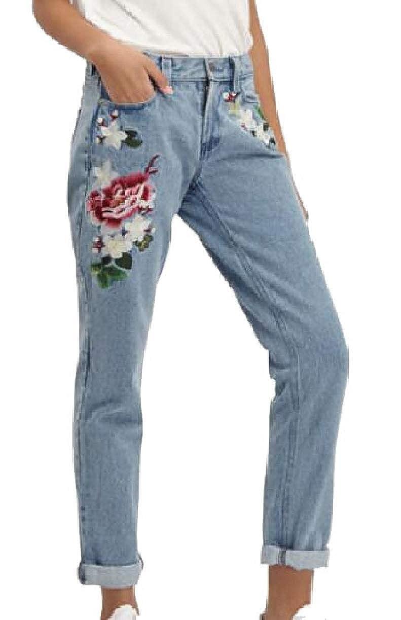 ZXFHZS Women Short Cropped Button Down Jean Denim Jacket with Pocket