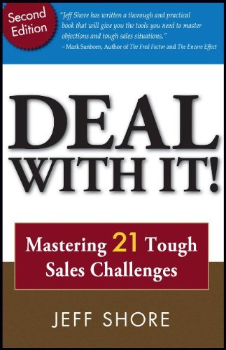 Deal With It! Mastering 21 Tough Sales Challenges discusses some of the toughest situations you'll ever face in consumer sales. Deal With It! is a resource book for the sales professional looking to step up their game by turning tough sales challenge...