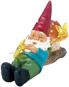 Summerfield Terrace 10018274 Sleepy Gnome Solar Garden Light, Small, Multicolor