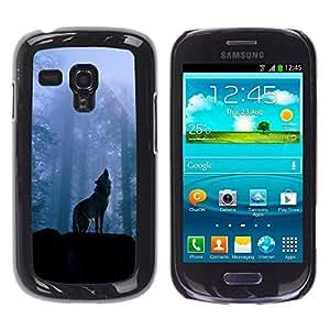 Paccase / SLIM PC / Aliminium Casa Carcasa Funda Case Cover - Nature Howling Wolf - Samsung Galaxy S3 MINI NOT REGULAR! I8190 I8190N