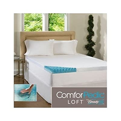 Beautyrest 4-inch Sculpted Gel Memory Foam Mattress Topper with Polysilk Cover Queen Size