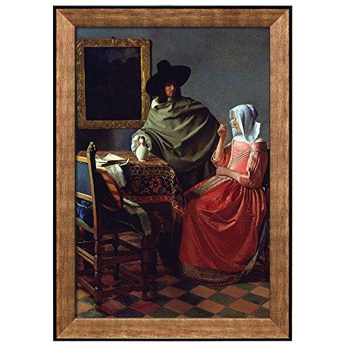 The Wine Glass by Johannes Vermeer Framed Art