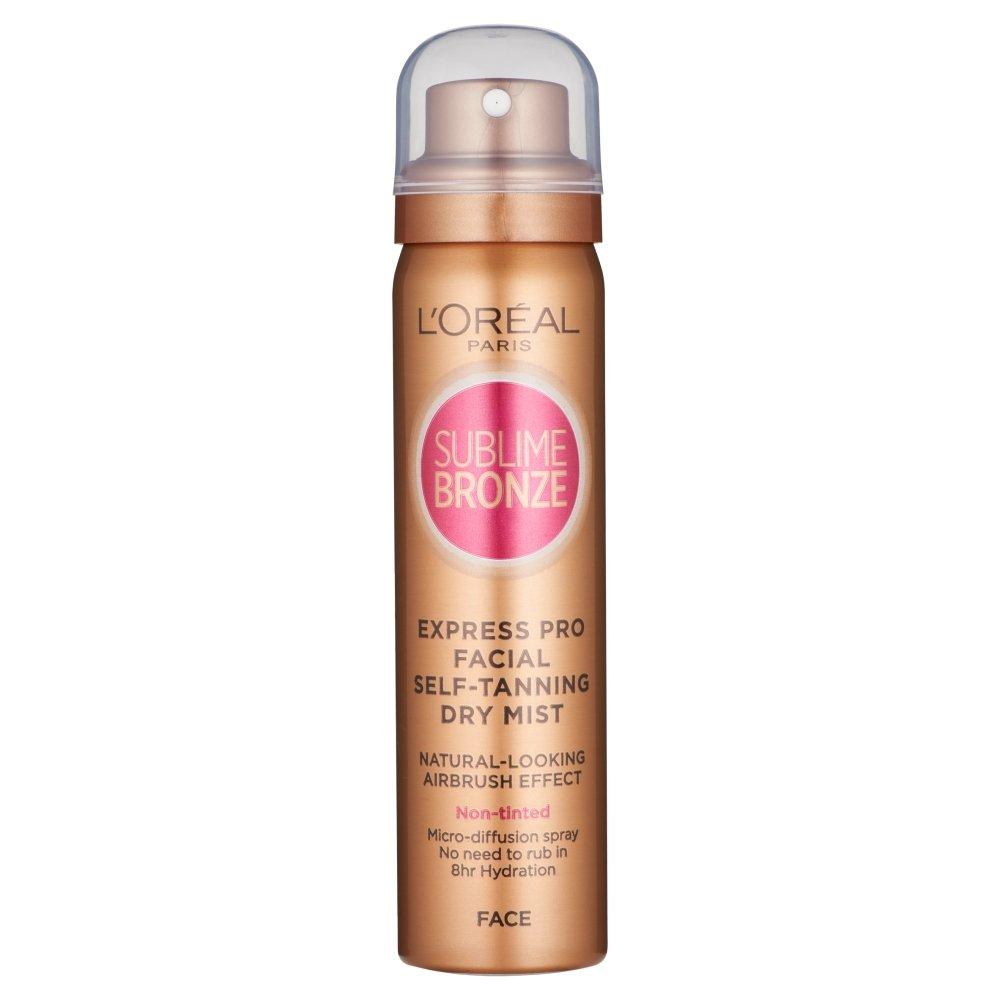 L'Oréal Sublime Bronze Self Tan Express Mist Spray Face, 75ml L' Oreal Paris 3600521109311