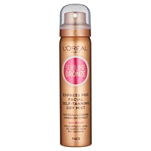 L'Oreal Sublime Bronze Self Tan Express Mist Spray Face 75ml