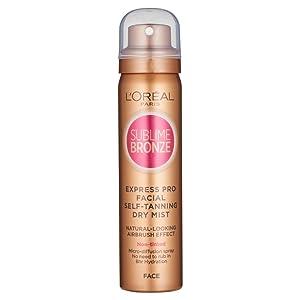 L'Oreal Sublime Bronze Self Tan Express Mist Spray Face 75ml