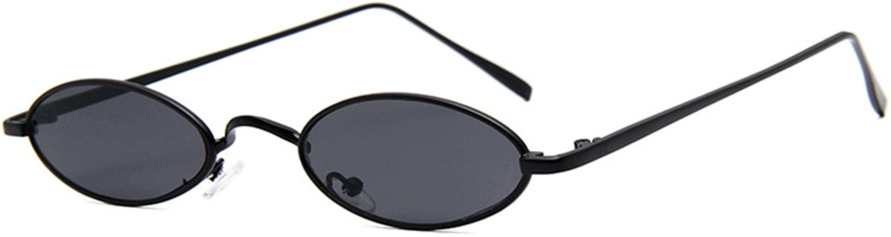 Gafas negro negro Oval