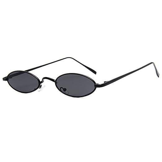 Amazon.com: Armear Retro Oval Narrow Small Sunglasses Women Men ...
