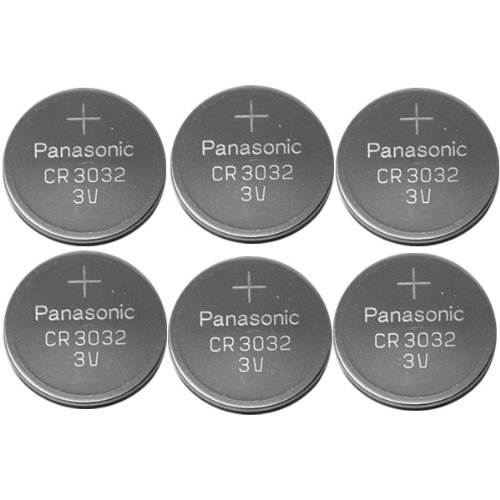 6-pack Panasonic Battery, Lithium Button Cell Cr3032- Cr 3032