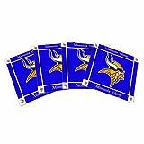 NFL Minnesota Vikings Ceramic Coasters-Pack of 4, Purple