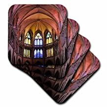 Danita Delimont - France - France, Nievre. Vaulted ceiling, Nevers Cathedral - set of 4 Coasters - Soft (cst_227241_1)