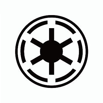 Star Wars Etiqueta de la pared Símbolo de la República Galáctica ...