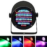 Missyee Stage lights Disco-Lights- Full RGB Color Mixing LED Flat Par Can - 86 LEDs par light - Red, Green and Blue color mixing - DJ-Lighting - Stage Lighting - Dance Floor Lighting (1pack)