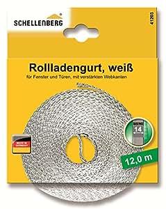 Schellenberg 41203 - Correa de persiana (14mm, 12m), color blanco