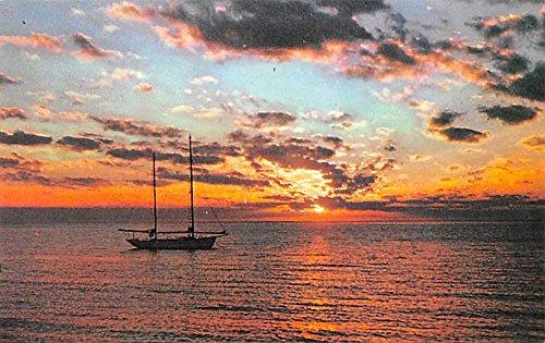 Sunset, Yacht Leilani Bahamas Virgin Islands Postcard