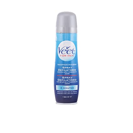 Veet for Men Crema depilatoria en Spray para hombre, Piel Normal, 150 ml