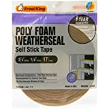 Frost King L342BH Polyurethane Foam Tape 1/4-Inch, Brown