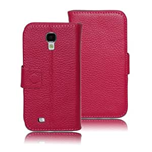 Sunmand Multi-function Pu Leather Case for Samsung 9500, Wallet Folio Case with Stand for Samsung S4. (Purple)