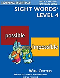 Sight Words Plus Level 4: Sight Words Flash Cards with Critters for Grade 2 & Up (Learning Essentials Math & Reading Flashcard Series)
