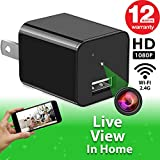 Spy Camera - WiFi Remote View - Hidden Camera - HD 1080P - Premium Wireless Camera - Motion Detection - USB Hidden Camera - Nanny Camera - Best Spy Camera Charger - Hidden Camera Charger - iOS Android