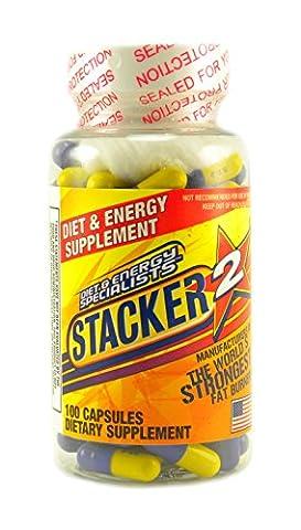 Stacker 2 Fat Burner Capsules, Ephedra Free, 100-Count Bottle (Calorie Burner)