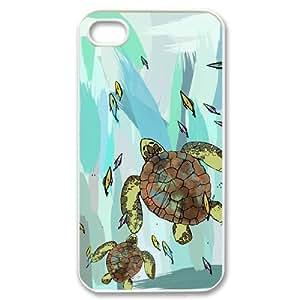 WEUKK Sea Turtle iPhone 4,4S,4G case, customized phone case for iPhone 4,4S,4G Sea Turtle, customized Sea Turtle cover case