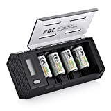 Best C Battery Chargers - EBL C Size Rechargeable Batteries (4 Pack) Review