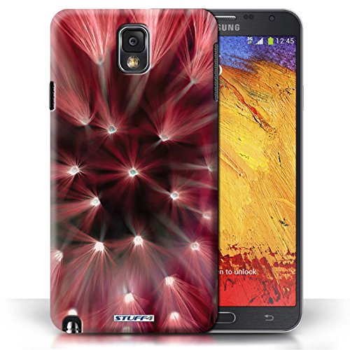 Etui / Coque pour Samsung Galaxy Note 3 / Rouge conception / Collection de Couleur/Lumière Fleur