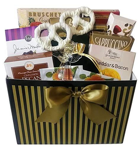 Inspirational Glass Angel & Sweets Gift Basket