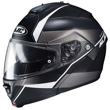 HJC IS-MAX II Mine - Modular Flip-Up Full-Face Motorcycle Helmet - Black/Silver - X-Large