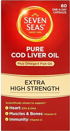 Seven Seas Pure Cod Liver Oil Extra High Strength 60 Caps ( PACK OF 4 (Seven Seas Joint Care)