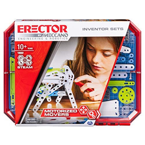 Meccano Erector, Set 5, Motorized Movers S.T.E.A.M. Building Kit with Animatronics, for Ages 10 & Up