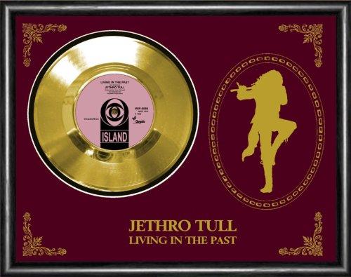 Jethro Tull Living In The Past Gold Vinyl Record Framed Display (Jethro Tull Living In The Past Vinyl)