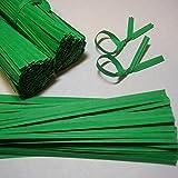 """100pcs 4"""" Paper Green Twist Ties"""