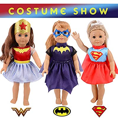 iBayda Total 11pcs/Set Halloween Costume Change Show Doll Clothes Set for 18 inch American Girl Doll ,Our Generation Doll: Toys & Games