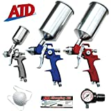 atd spray gun - ATD Tools 9 Pc. Hvlp Spray Gun Set with Face Masks Part #Atd-6900
