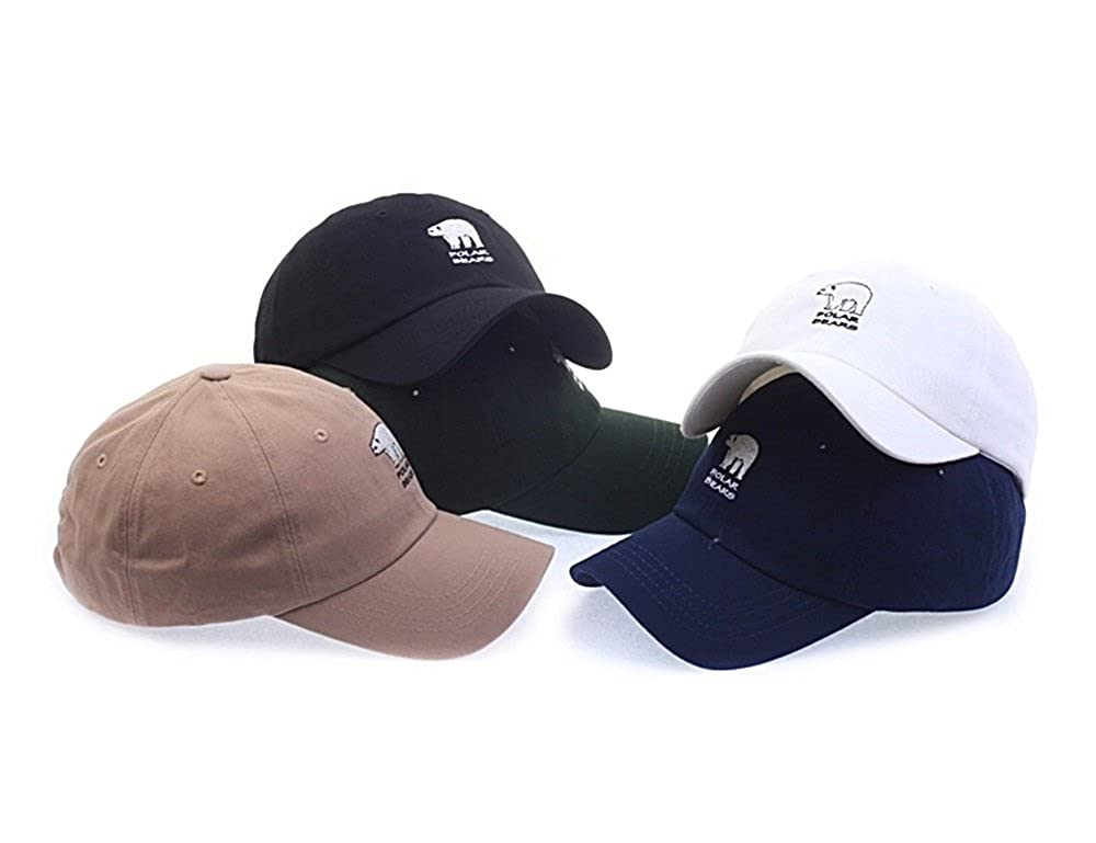 1d757d097ac Polar Bears Embroidery Baseball Caps Hats Accessories Unisex Mens Womens  (Beige) at Amazon Men s Clothing store