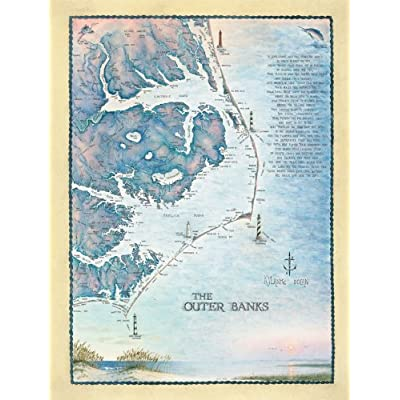 Heritage Puzzle Outer Banks Waterways - 550 Piece Jigsaw Puzzle: Toys & Games