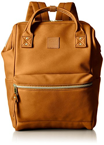 - Anello Synthetic Leather Backpack Large AT-B1211 (Camel Beige)
