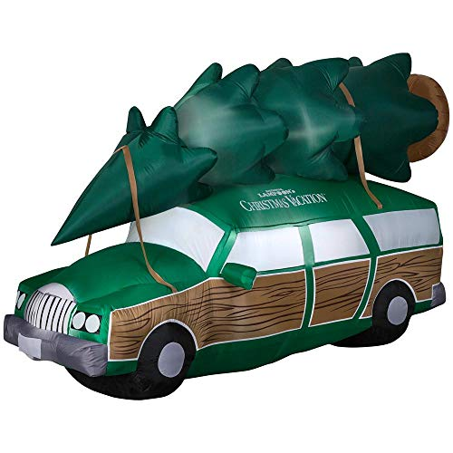 Gemmy Inflatable National Lampoons Christmas Vacation Station Wagon - 8Ft Wide - Outdoor Christmas Decoration (Vacation Globe Snow Christmas)