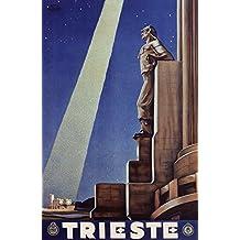 Trieste Poster, Vintage Italian Travel Poster, Italy