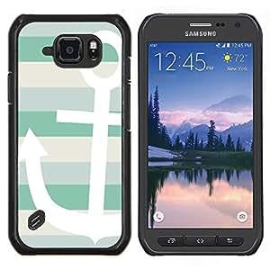 LECELL--Funda protectora / Cubierta / Piel For Samsung Galaxy S6Active Active G890A -- Barco de Verano Sun Sailing Líneas --
