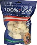 Pet Factory 78114 Beefhide Dog Bones 4-5″ 8 Pack, 99% Digestible Rawhide Treats, 100% Natural Rawhide Knotted Bones, Natural Flavor, Resealable Package, Made in USA Review
