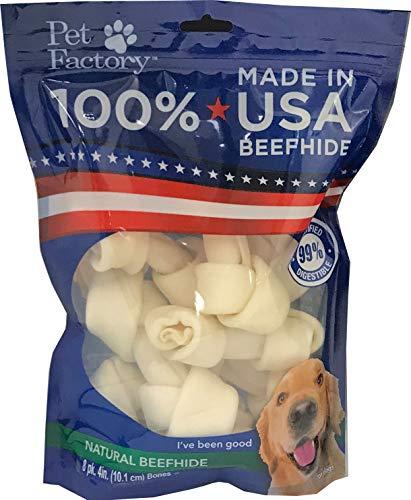 Pet Factory 78114 Beefhide Dog Bones 4-5