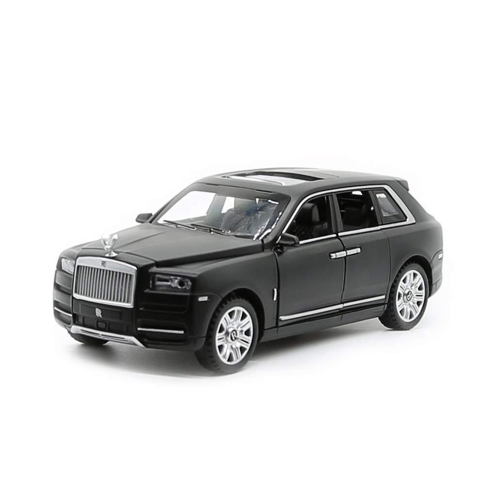 Black SHLIN-Car model Alloy Car Die-Casting Car Model Off-Road Car Model 1 30 Toy Car Model Sound and Light Pull Back Gift for Boys Kids (color   gold)