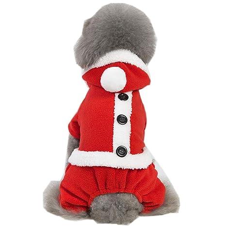 Nilefen - Disfraz de Papá Noel, muñeco de Nieve, para Perro ...