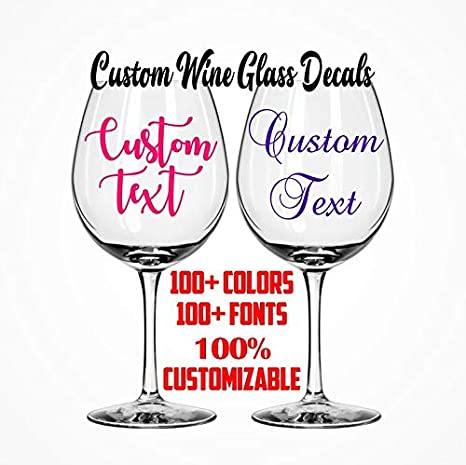 Wine Glass Decal Bridesmaid box decal vinyl name decal wine glass stickers custom wine glass tumbler decal